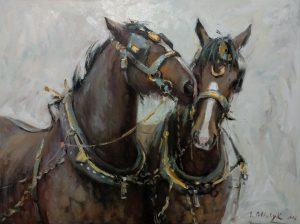Владислава Полищук. Horses 2016г. Oilcanvas 80x60cm