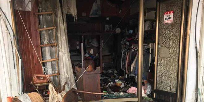 Пожар в магазине одежды