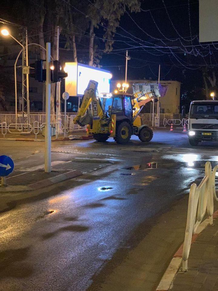 На ряде улиц Нагарии ведутся ремонтные работы